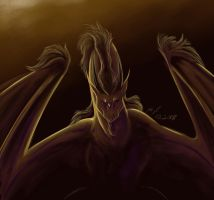 The waiting dragon by Werwal