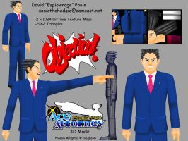 Phoenix Wright 3D Model by Espiownage