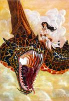 Lava Dragon and Princess Mia by JohnArmbruster
