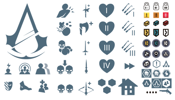 Assassin's Creed Unity: In-Game Icons by ceekaysickART