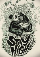 Panda are stone because of bamboo by Hash-Official