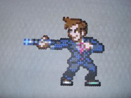 Tenth Doctor - Doctor Who by PerlerPixelPals