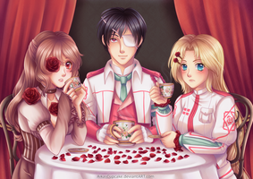 Rose Tea Party by AikasCupcake