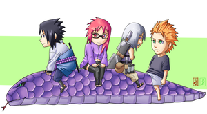Team Hebi Chibis by Ironcid