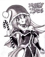 Merry Xmas Dark Magician Girl by Kami-Ato