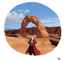 Fullmetal at Arches by A-bob