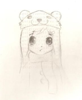pedobear hat by squiglyscribbles