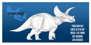 Triceratops horridus by BlueCea
