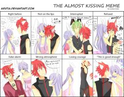 Camilla and Arata [The almost kissing meme] by Arutia