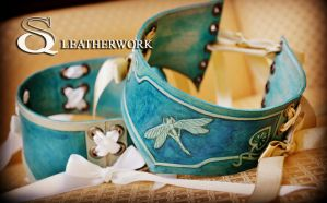 Dragonfly Collar by SqLeatherwork