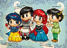It's A Small World - Ranma 1/2 in Disney Chara :'3 by art-rinay