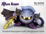 Meta Knight Papercraft by Ashek86
