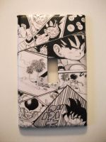 Dragonball Light Switch Plate by Krizteeanity
