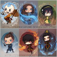 Avatar the Last Airbender Chibi by StarMasayume
