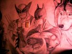 batman wolverine on the wall 3 by MICK66650