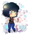 Comission_AURA for strange-butbeautiful by HeavenRose150