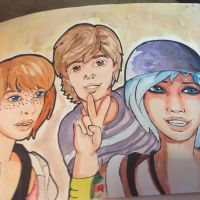 Max, Chloe, and Warren from life is strange  by tfbeatiful