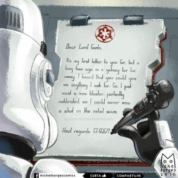 Galactical Letter to Santa by michel-borges