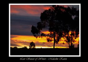 Last Sunset of Winter by FireflyPhotosAust
