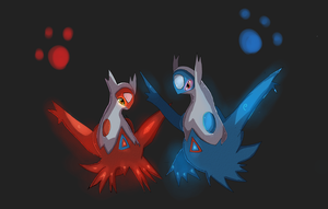 Latias and Latios by LizardonEievui13