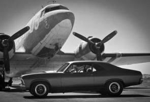 C47 Warbird Chevy Nova Muscle Car by Paradise-Road