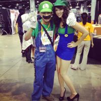 Acen 2013: Luigi and Daisy (w/ a Luigi costume) by LuigiFan2013