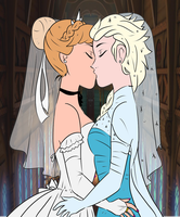 Elsanna wedding (drawing 5) by Arendellecitizen