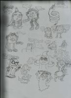 Random PMATGA Doodles 2 (Warns: Some cursin here) by ArtLovingCatGirl