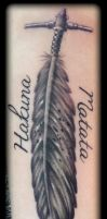 Indian feather by state-of-art-tattoo