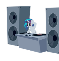 Vinyl scratch- Dj-Pon3 by MMu7