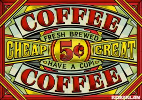 Old Coffee Sign by roberlan
