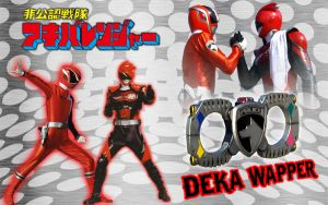 Akibaranger DekaRed Deka Wapper by blakehunter