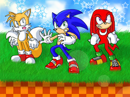 Team Sonic by SonicRocksMySocks
