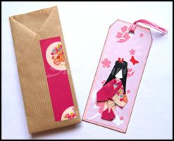Bookmark pink by SuniMam