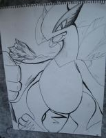 Lugia In Ink by Eternalskyy