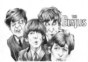 The Beatles Caricature by thenictionary