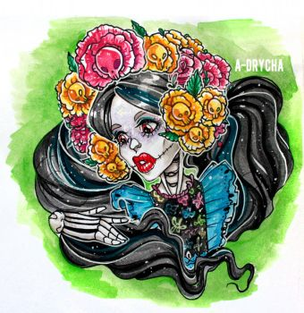 Skelita Exclusive mattel version [Monster high} by a-drycha