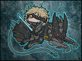 Raiden and Wolf by Nightlinez