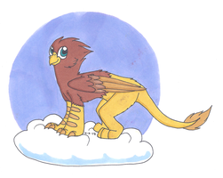 Chillin on a cloud by CursedFire
