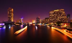 Saphan Taksin Night by comsic