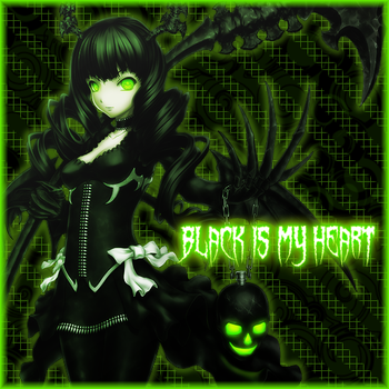 {Black Is My Heart} by Mesperyian