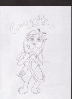 cowardly lion of oz by ALH-glad