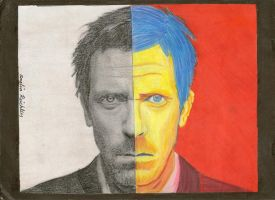 Dr. Gregory House for school by amelia13274