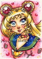 ACEO - Eternal SailorMoon Bust by yamiyuuga