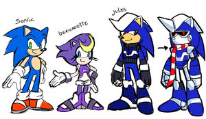 Pre-reboot  Sonic parents redesigns by Drawloverlala