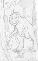Tyrannosaurus in the Forest by Marvelousboy