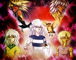 Bakura and Marik - The Crow, the Owl, and the Dove by AngelLust155
