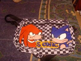 Backpack Sonic and Knuckles by WarriorIkki-toac50