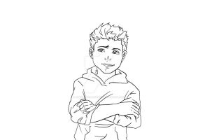 Damian Wayne Outline by AimiisLoveBeautiful