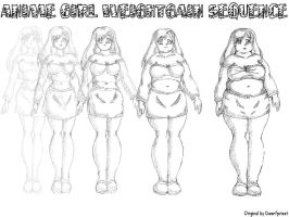 Anime Girl Weight Gain Morph by Atlya
